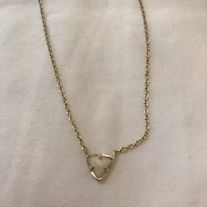 Kendra Scott triangle white pearl necklace